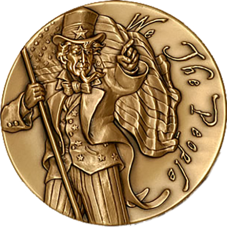 Uncle Sam Medal - Bronze 2'' - Design by Michael Berman