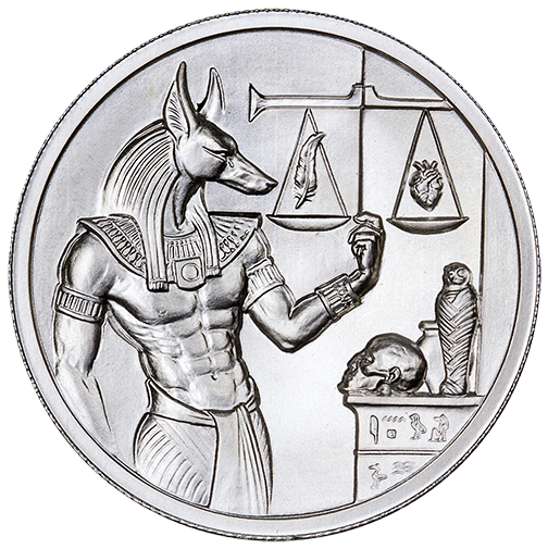 Anubis - Obverse - High Relief 2oz Silver Bullion - Original Design