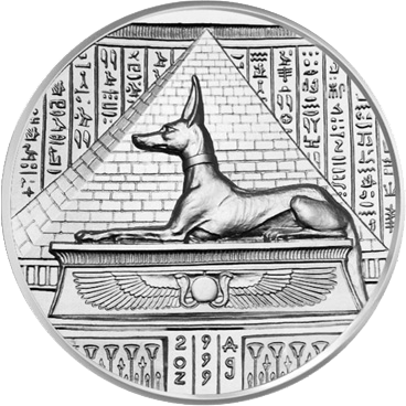 Anubis - Reverse - High Relief 2oz Silver Bullion - Original Design